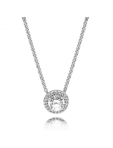 Round Sparkle Halo Necklace