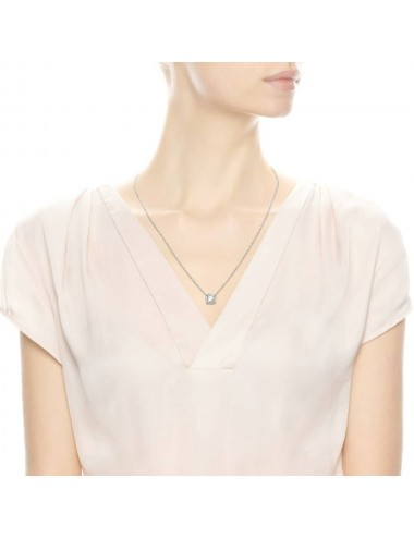 Square Sparkle Halo Necklace