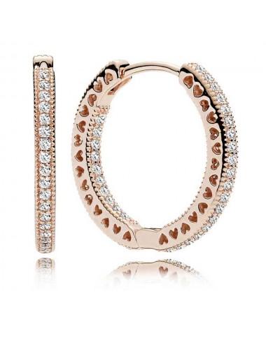 Sparkle & Hearts Hoop Earrings