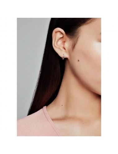 Pavé Heart Hoop Earrings