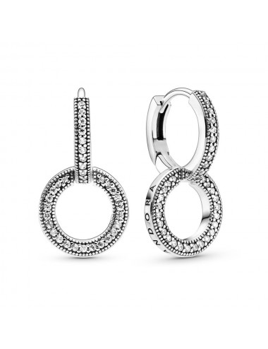 Sparkling Double Hoop Earrings