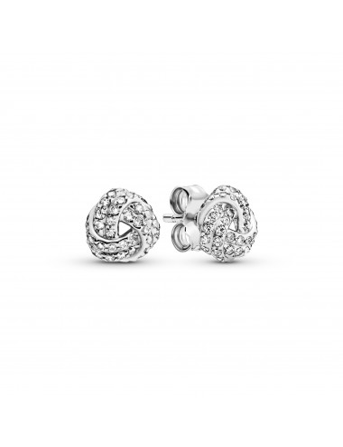 Shimmering Knot Stud Earrings