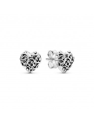 Regal Heart Stud Earrings