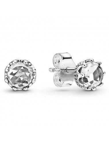 Clear Sparkling Crown Stud...
