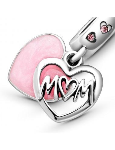 Mum Script Heart Dangle Charm