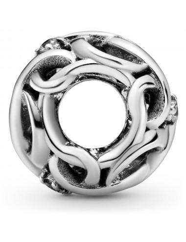 Openwork Woven Infinity Charm