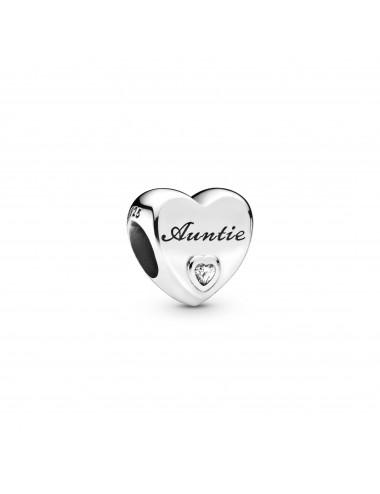 Auntie Love Heart Charm