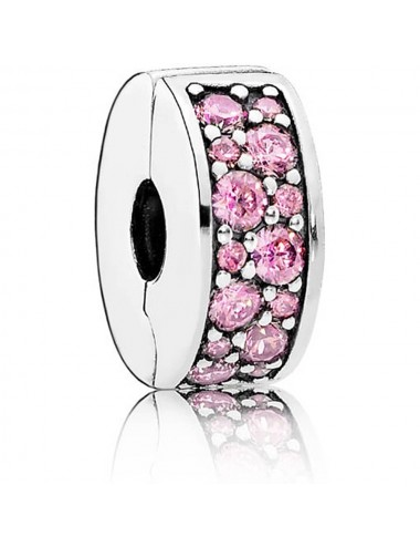 Pink Pavé Clip Charm