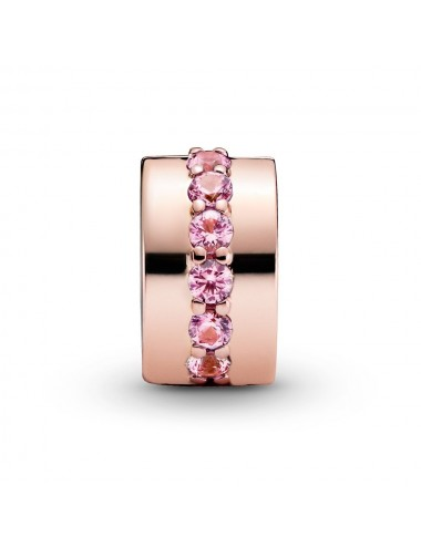 Pink Sparkling Row Clip Charm