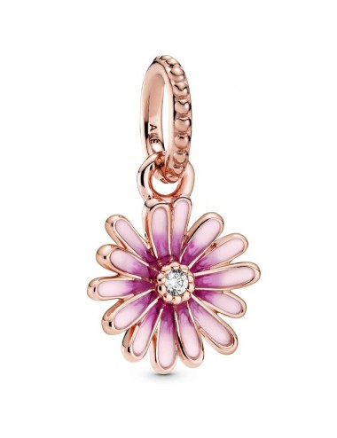 Pink Daisy Flower Dangle Charm