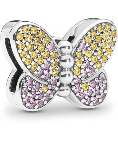 Pavé Butterfly Clip Charm