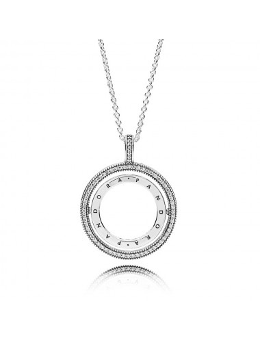 Pandora Logo Circle Necklace