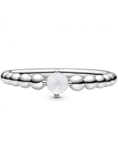 April Birthstone Beaded Ring