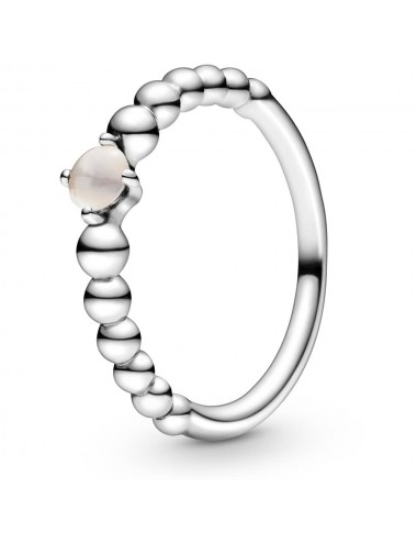 June Birthstone Beaded Ring