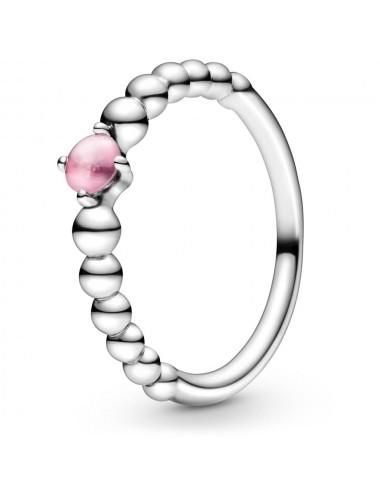October Birthstone Beaded Ring