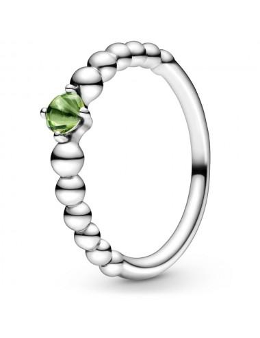 August Birthstone Beaded Ring