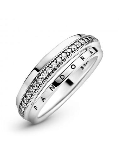 Triple Band Pavé Ring