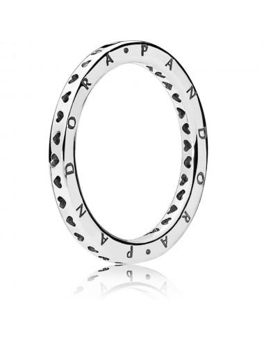 Hearts & Pandora Logo Ring
