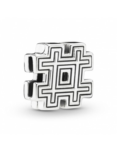 Hashtag Symbol Clip Charm