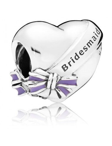 Bridesmaid Heart & Bow Charm