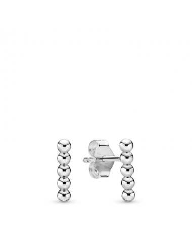 Row of Beads Stud Earrings