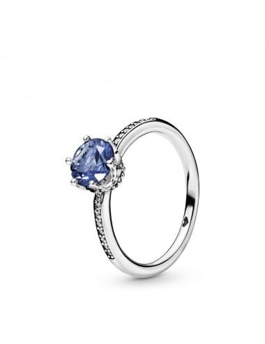 Blue Sparkling Crown Ring