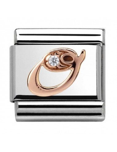 Classic 9ct Rose Gold Letter O