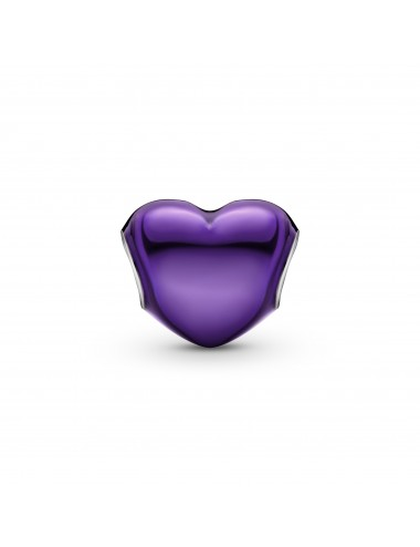 Metallic Purple Heart Charm
