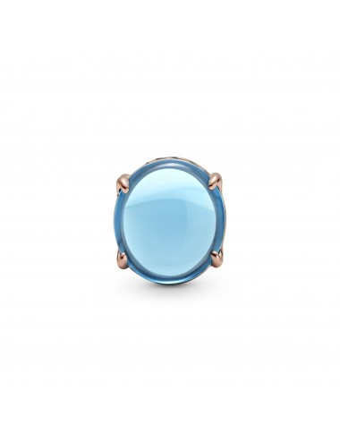 Blue Oval Cabochon Charm