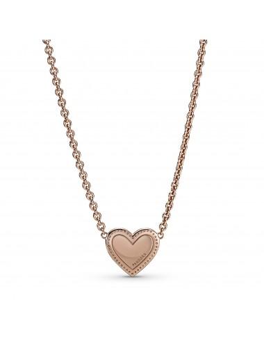 Pink Swirl Heart Collier...