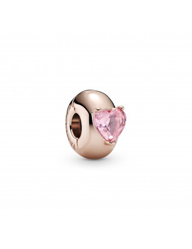 Pink Heart Solitaire Clip...