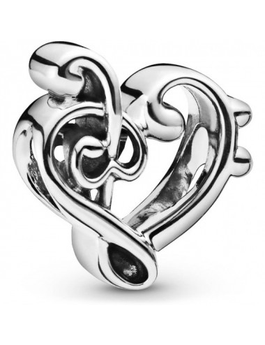 Heart Treble Clef Charm