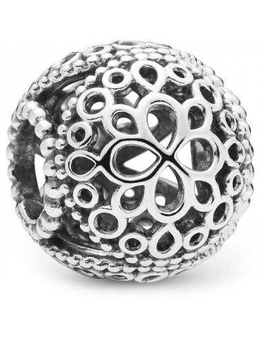 Openwork Flower Charm