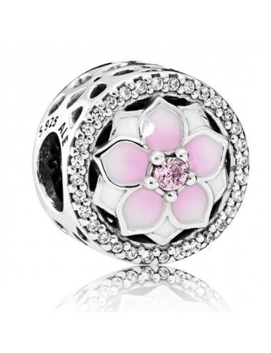 Pink Magnolia Flower Charm