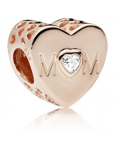 Clear Mum Heart Charm