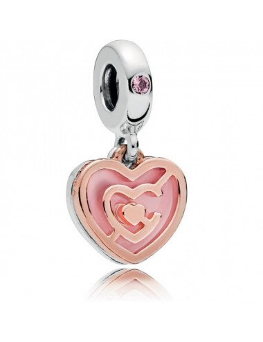 Pink Heart Labyrinth Dangle...