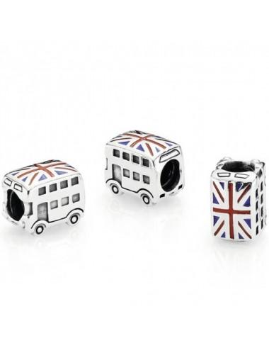 Union Jack London Bus Charm
