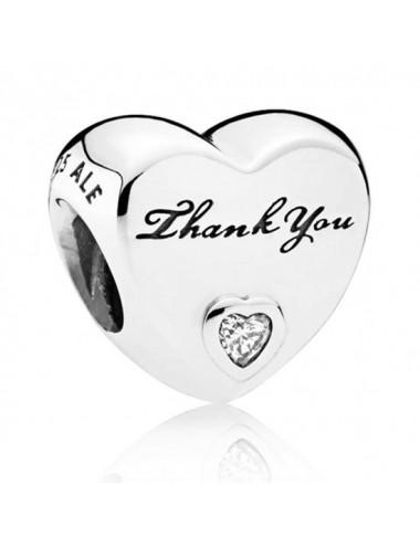 Polished Thank You Heart Charm