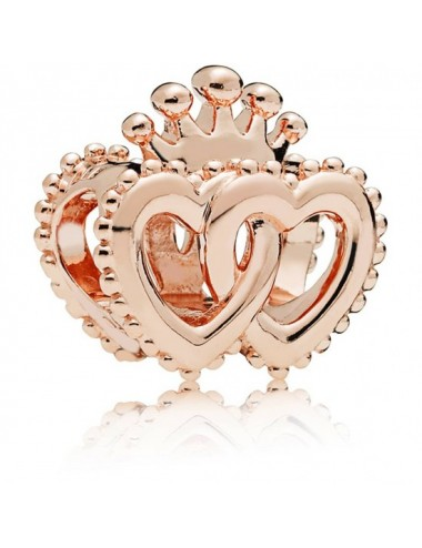 Crown & Entwined Hearts Charm