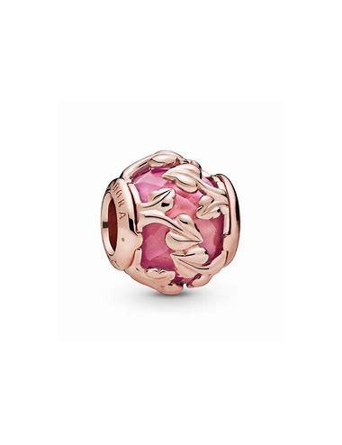 Pink Decorative Leaves Charm