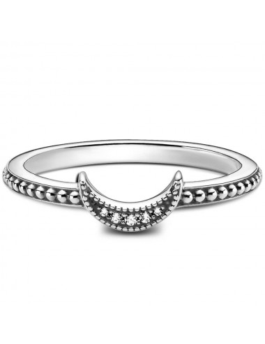 Crescent Moon Beaded Ring