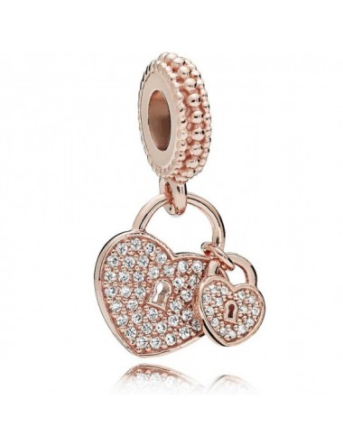 Pavé Heart Padlocks Dangle...