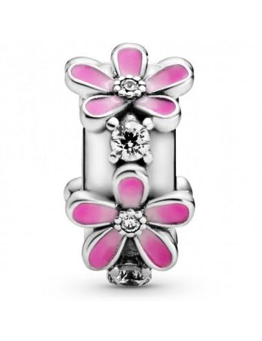 Pink Daisy Flower Clip