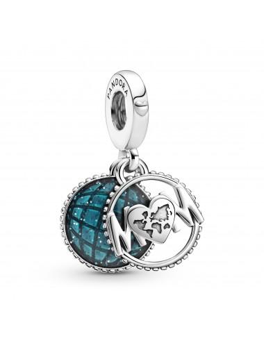 Glitter Globe Mum Dangle Charm