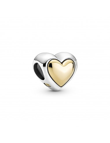 Domed Golden Heart Charm
