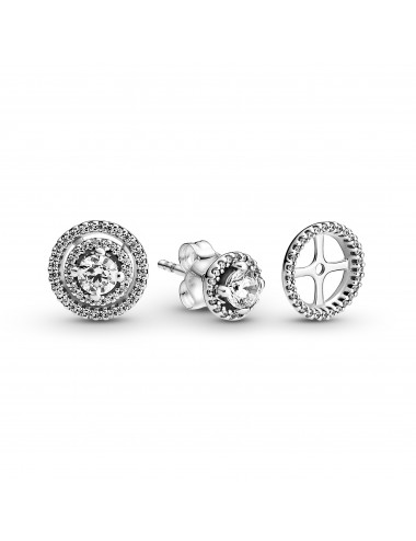 Sparkling Double Halo Stud...