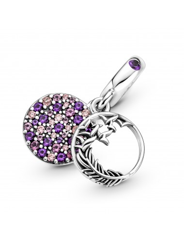 Pave Feather Dangle Charm