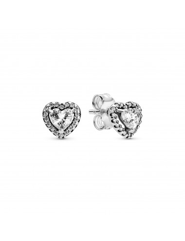 Elevated Heart Stud Earrings