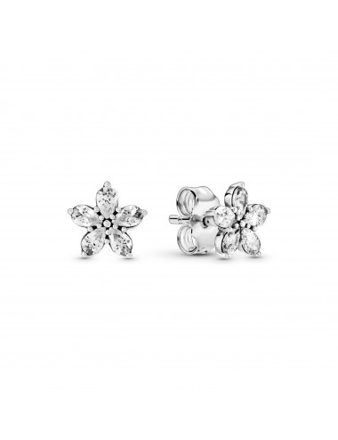 Sparkling Flower Stud Earrings